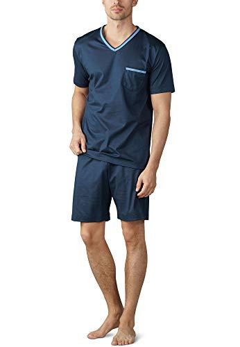Mey Night Uni Basic Herren Schlafanzüge kurz Blau 50