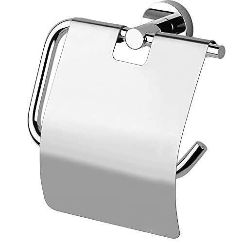 Portarrollos con tapa Moderna, accesorios de baño, fabricado en Italia