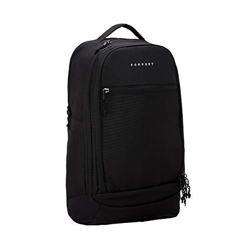 FORVERT Leo Unisex Backpack lässiger Daypack,Rucksack mit 15 Zoll Laptopfach,Boardcatcher,gepolsteter Rücken und Trageriemen,Black,one Size