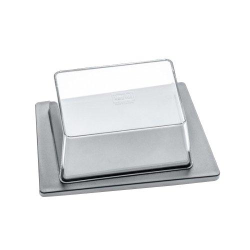 koziol Butterdose  Kant,  Kunststoff, cool grey / transparent klar, 12 x 16,5 x 6,9 cm