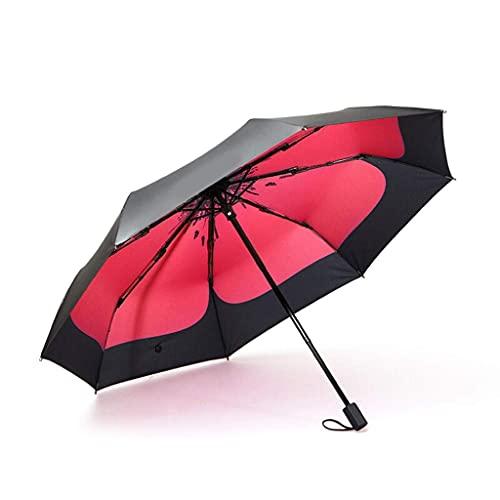 WZMFDC Ombrello Umbrella Ultra Light Pieghevole Sunscreen Antiuv Fashion Adult Woman Trifold Sunny Ombrello (Colore: A) dongdong (Color : A)