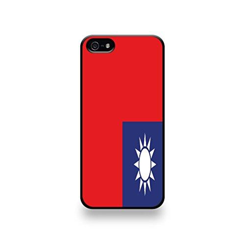 LD Case COQIP5_179 beschermhoes voor iPhone 5/5S, vlag Taiwan.