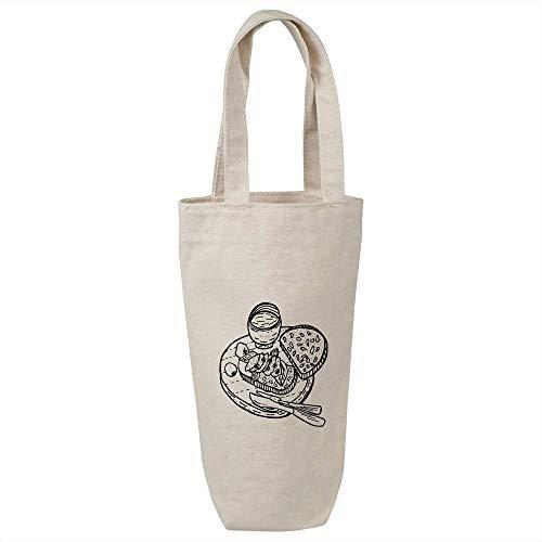 Azeeda 'Savoury Food On Board' Cotton Wine Bottle Gift / Travel Bag (BL00016746)