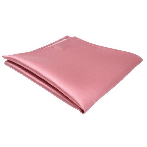 TigerTie Designer Einstecktuch in rosa altrosa einfarbig uni