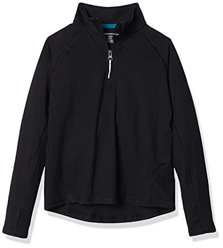 Amazon Essentials Girl's Half-Zip Active Jacket, Black, XS (4-5)