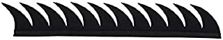 AutoTrends Cuttable Rubber Mohawk/Spikes Helmet Accessory for All Motorcycles Dirt Bike and Normal Helmets (Black)