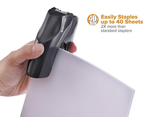 Bostitch Stapler with Staples Value Pack Set, Heavy Duty Stand Up Stapler, Black, 40 Sheet Capacity with 5000 Staples, Small Stapler Size, Fits Into The Palm of Your Hand (B175-BLK -VP) Photo #4