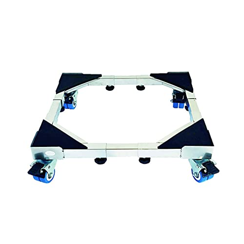 Apparatrullar Heavy Duty med 4 × 2 Lås Svänghjul Flytta Tvättmaskiner Bas Stent Utdragbara Diskmaskiner & Torktumlare Justerbar 45-66cm Kylskåp Frys Vagnsladdning 500kg (Size : B)