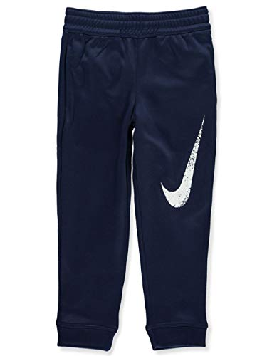 Nike Kids Baby Boy's Therma Fleece Athletic Pants (Toddler) Midnight Navy 4T Toddler