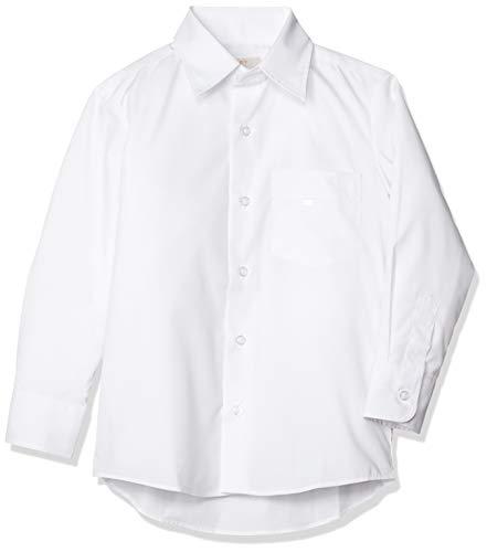 [セシール] 長袖スクールシャツ(男児) 学生 制服 通学シャツ 男子 TH-1155 ホワイトA(角衿) 日本 120 (日本サイズ120 相当)