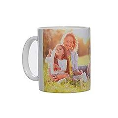 Idea Regalo - Stampa la Tua Foto su Tazza Personalizzata, Modello Mug in Ceramica per Uso Regalo, Alimentare e arredo (Bianco, 300 ml)