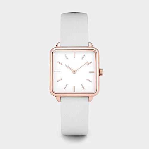 JZDH Relojes para Mujer Relojes de Moda de Moda Simple Vestido con Encanto Negro cumpleaños Rosa Oro Elegante Reloj de Pulsera Regalos para Mujeres Relojes Decorativos Casuales para Niñas Dama