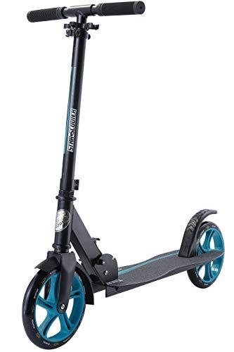 Star-Scooter Monopattino per Bambini de 8 Anni e Adulti | City Kick Fun Scooter 2 Ruote 205mm Pieghevole con Manubrio Regolabile, Bianco