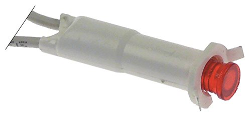 Elframo Signallampe für Fritteuse ST12, ST12+12, ST7, ST7+7, ST4, ST6 rot ø 8mm 230V Anschluss Kabel