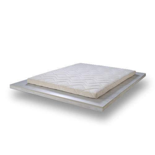 SURMATELAS Grand Confort en 100% Latex Naturel - 8 cm D'ÉPAISSEUR/Structure Respirante Anti-Transpiration 7 Zones Technologie Dunlop - Housse épaisse HYPOALLERGÉNIQUE détachable (160x200x8)