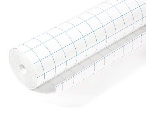 HERMA Rouleau de film adhésif de protection pour livre (1 m x 40 cm, autocollant, brillant) transparent 7001