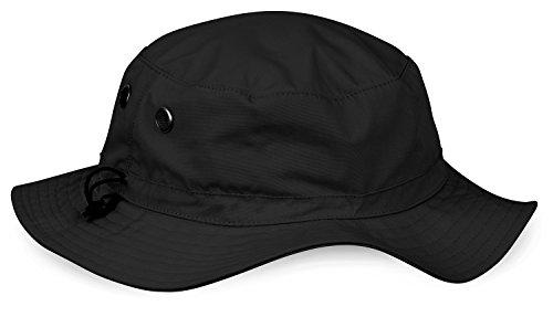 noorsk Cappello da Sole Estivo con Protezione UPF 50+, Black