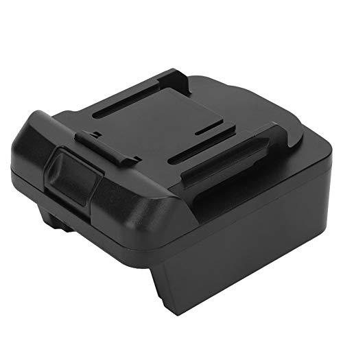 Caiqinlen Adaptador de batería para Milwaukee, Adaptador de batería Duradero Resistente al Desgaste Seguro, ABS Negro para batería de lipo Ion Milwaukee M18 Batería de lipo Ion Bl1840