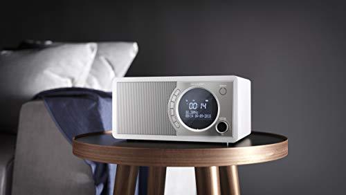 SHARP DR-450(WH) DAB+ Digital-Radio (DAB/DAB+/FM mit RDS, Bluetooth, Wecker- Funktion), weiß