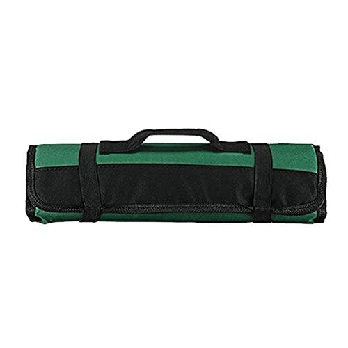 Xiaorong Chef Roll Bag con 22 ranuras para cortador portátil cortador bolsa de almacenamiento con asa correa elástica cierre negro/verde/azul