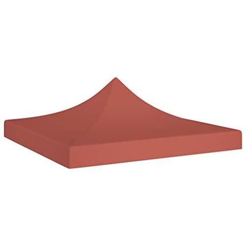 UnfadeMemory Partyzelt-Dach Ersatzdach Zeltdach Pavillondach Faltpavillon Dach für Gartenpavillon Partyzelt Gartenzelt, 600D Oxfordgewebe mit PVC-Beschichtung (3x3 m, Terrakottarot)