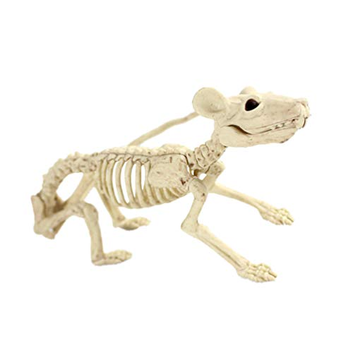 VALICLUD Mini Esqueleto Rata Esqueletos de Animales de Halloween Decoraciones de Patio Impermeables Uso en Interiores Al Aire Libre