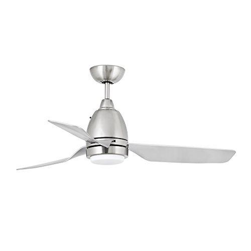 Faro Barcelona Fogo 33468 - Ventilador con luz (bombilla incluida) LED, 12W, cuerpo de acero palas de abs y difusor de cristal opal
