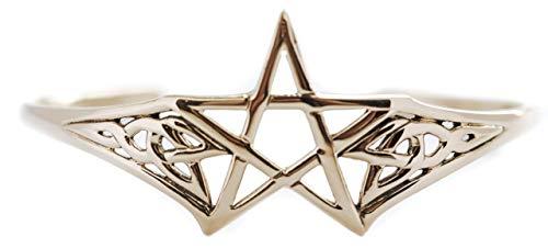 Windalf Pagan Schutz Armreif ÀSVAR Ø 6 cm Bohemia Schmuck Pentagramm Hochwertige Bronze