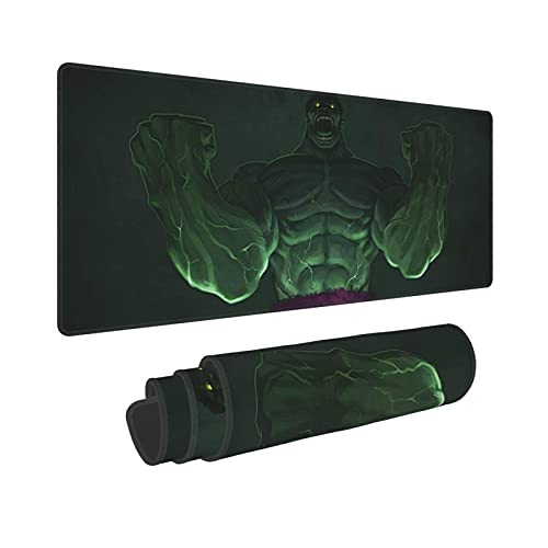 Fgfdrcd Superhero Hulk Mouse Pad Stitched Edges Rectangle Non-Slip Rubber Textured Large Mousepad 11.8X31.5 Inch Gaming Dedicated,for Laptop Computer & PC