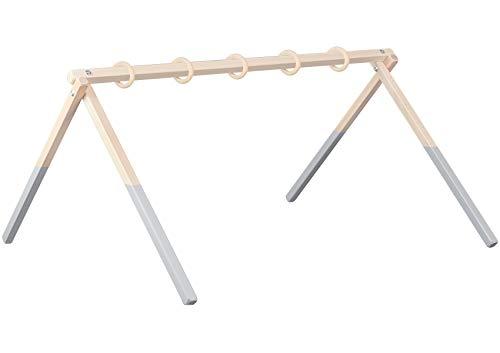 Sämann trapecio de juego, centro activo, juguete para bebé de madera, multicolor, madera de haya (mediano, gris/natural).