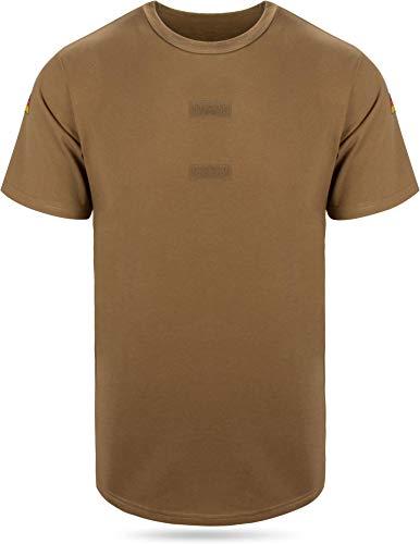 BW Tropen Unterhemd mit Klett und Nationalitätsabzeichen Neu Bundeswehr T-Shirt Farbe Khaki Größe 7
