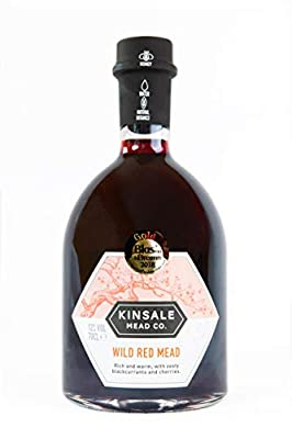 Kinsale Mead Co. Wild Red Mead 70cl, Irish blackcurrants beautifully balanced with dark cherries (Drink Cold or Mulled) 12% ABV