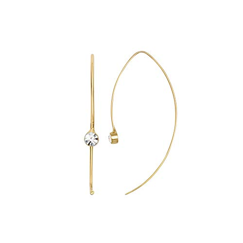 DANSK Smykkekunst Mix & Match Simple Pull Through Earring Gold Plating