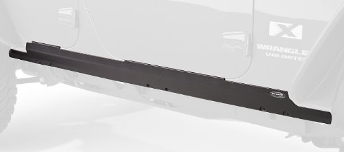 Bushwacker 14012 Black Trail Armor Rocker Panel & Sill Plate Covers for 2007-2018 Jeep Wrangler JK Unlimited 4-Door, Pair