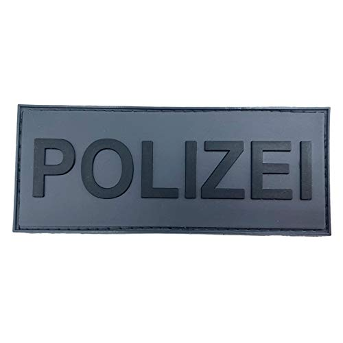 Polizei Police - Parche táctico para airsoft paintball, PVC, línea azul