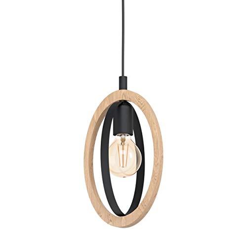 EGLO Lámpara colgante Basildon, 1 lámpara de techo vintage, industrial, retro, lámpara...
