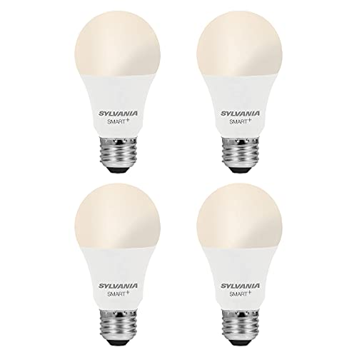 Smart LED Light Bulb, A19 60W Equivalent, Efficient 9W, Dimmable, 800 Lumens, Soft White - 4 Pack