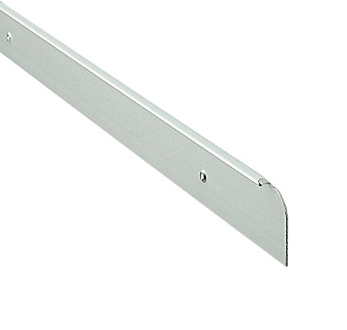 Bulk Hardware BH04366 30 x 630 mm Arbeitsplatten-Endkappe, Mattsilber/Weiß, 630 mm