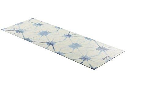 YOMATS Premium Yoga Handtuch, Yogamatte 1mm, leicht dünn, faltbar, waschbar, Wet Grip ideal für Hot-Yoga, Mikrofaser & Naturkautschuk, Yoga & Pilates, Mattenauflage