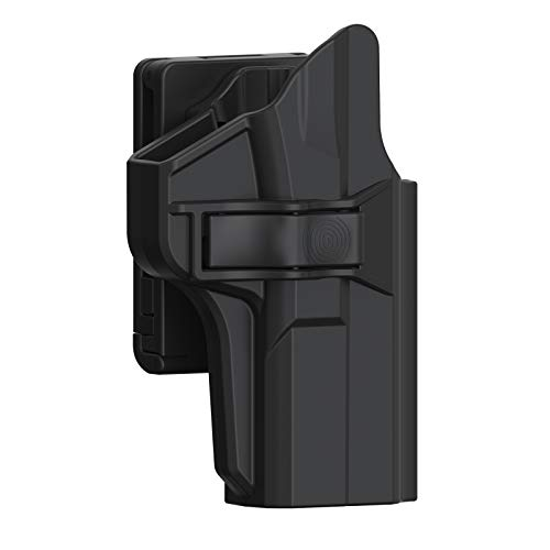 S&W M&P 9MM Full Size Holster, Tactical OWB Holster for Smith & Wesson MP 9MM/40S&W M&P 2.0(No Shield), Polymer Outside the Waistband Open Carry 60° Adjustable Belt Holster with Rapid Release, RH