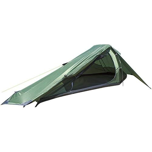 1 Person Trekker Tent Hiking Outdoors One Man Tent Single - Green
