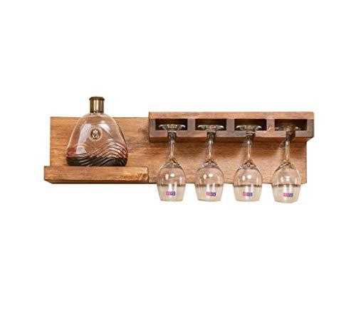 Weinregale, Weinregal 3 Flaschen Massivholz-Weinregal Wand- Weinflaschenhalter Becherhalter Regal Blume Rackwagen WTZ012