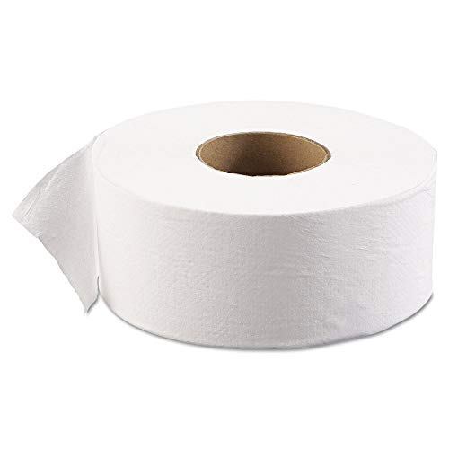 "Boardwalk BWK6101 JRT Jr. Bath Tissue, Jumbo, 1-Ply, 3 5/8"" x 2000ft, 9"" dia, White, 12/Carton"