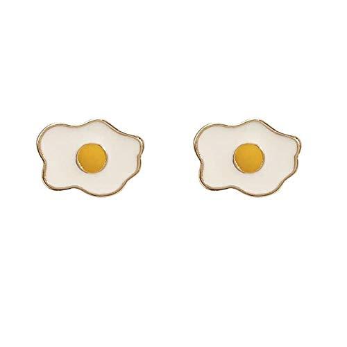 S925 Silver Aguja Simple Pequeños Pendientes Amarillos Amarillos Nuevos Ear Pendientes (Color : Ear Clip)