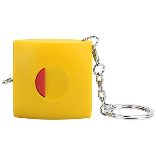 Cinta métrica, cinta métrica retráctil duradera Cinta retráctil portátil con material de nano síntesis de piel de ganado de PVC para ropa a medida(yellow)