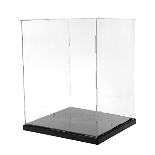 LLLucky Clear Countertop display kubus model stofdichte display box LED lichten collectibles bescherming vitrine