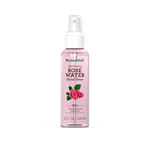NatureWell Rose Water Facial Toner Spray, 4 Oz.   100% Vegan   Conditions, Tones, and Moisturizes Skin