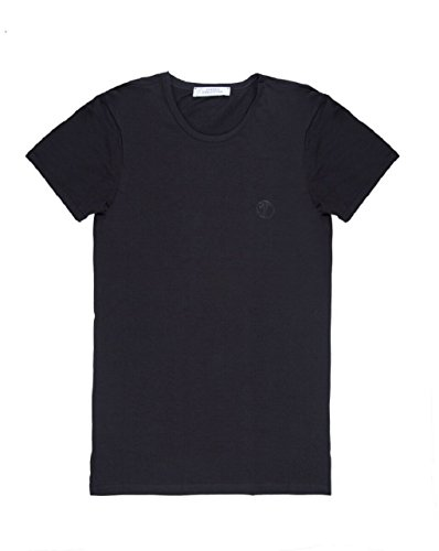 Versace Collection Mens Black Cotton Crew Neck Medusa Undershirt T-shirt Viogco1 (M)