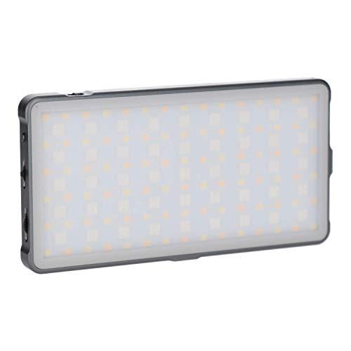 Rollei Lumis Slim LED S RGB - Lámpara de vídeo (135 ledes, 3200-5600 K, 12 W, 21 Efectos, 360 matices de Color y 1174 Lux (0,5 m a 5500 K)