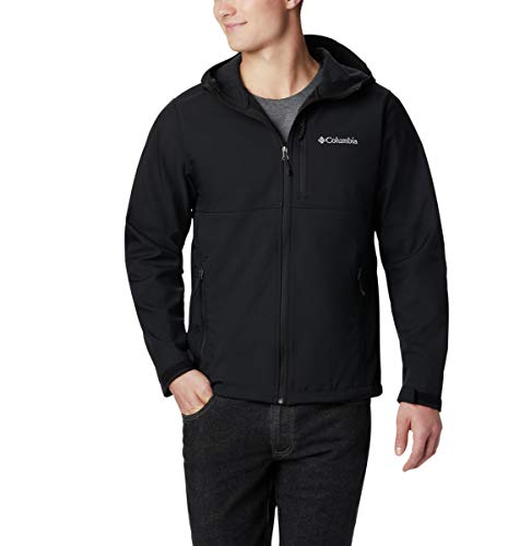 Columbia Men's Ascender Hooded Softshell Jacket, Black, Large